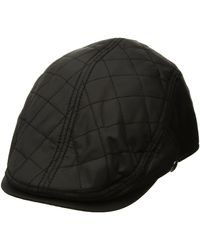 Perry Ellis Quilted Nylon Driving Cap - Black