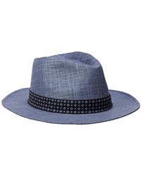 d7e369729 Textured Linen Trilby Hat - Blue