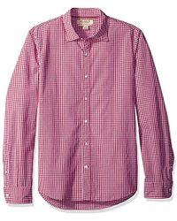 Franklin Tailored - Regular-fit Long-sleeve Small-scale Gingham Shirt - Lyst
