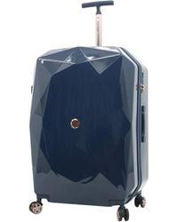 Kensie 3d Gemstone Tsa Lock Hardside Spinner Luggage - Blue