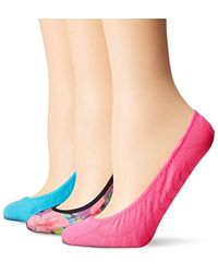 Sperry Top-Sider 3 Pack Printed Micro Liner Socks - Multicolor
