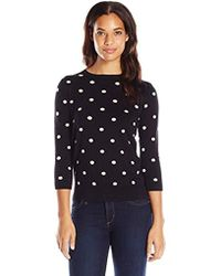 Joan Vass Classic Polka Dot Sweater - Black