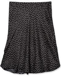 Nine West Printed Flare Skirt Strickrock - Schwarz