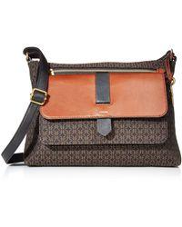 Fossil Kinley Fabric Large Crossbody Handbag - Black