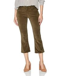 James Jeans - Cropped Bootcut Velveteen Pant In Smoky Topaz - Lyst