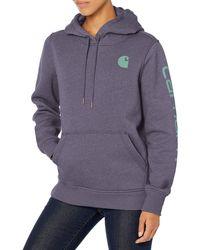 Carhartt Clarksburg Graphic Sleeve Pullover Sweatshirt - Purple