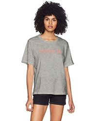 Hurley - Short Sleeve One & Only Perfect Crew T Shirt - Lyst