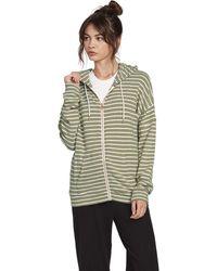 Volcom Lil Zip Up Hooded Fleece Sweatshirt - Green