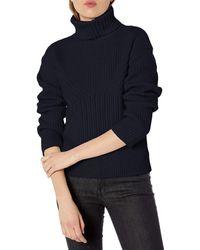 Emporio Armani Cashmere Blend Turtleneck Sweater - Blue