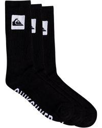 Quiksilver Crew Socks - - One Size - Black