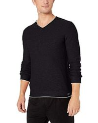 Lucky Brand Welter Weight V-neck Pullover Sweater - Black