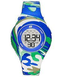 Skechers - Spreckles Digital Silicone Chronograph Watch, Color: Blue/green Swirl (model: Sr6107) - Lyst