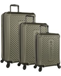 Columbia 3 Piece Hardside Spinner Luggage Set2 - Green