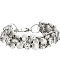Lucky Brand - Silver Coin Bracelet - Lyst