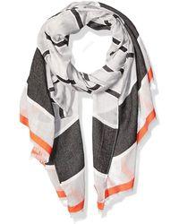 Calvin Klein Striped Chambray Scarf Modischer Schal - Grau