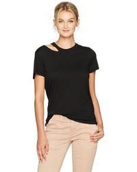 n:PHILANTHROPY N: Philanthropy Zander Casual Crew Neck Short Sleeve Distressed T Shirt - Black