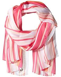 Calvin Klein - Printed Shadow Stripe Scarf - Lyst