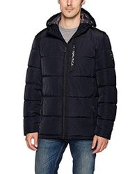 Nautica - Quilted Hooded Parka Jacket - Lyst