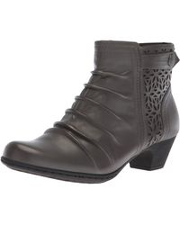 Rockport Womens Brynn Panel Boot - Size 11 M - Gray