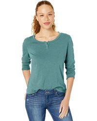 Columbia Canyon Point Long Sleeve Henley - Green