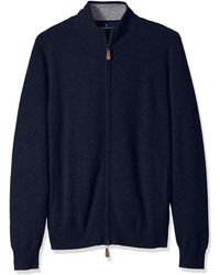 Buttoned Down Cashmere Full-zip - Blue