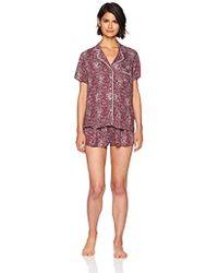 Splendid - Classic Rayon Short Sleeve Top And Short Pajama Set Pj - Lyst