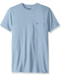 Izod Saltwater Short Sleeve Solid T-shirt With Pocket - Blue