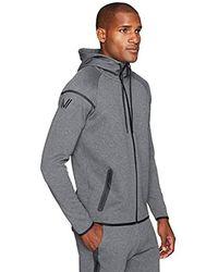 Peak Velocity Amazon Brand - Metro Fleece Full-zip Athletic-fit Hoodie - Gray