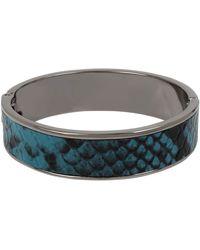 Kenneth Cole Blue Snake Inlay Hinged Bangle Bracelet