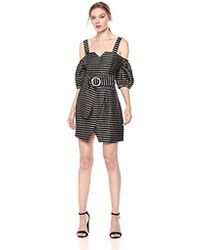 fdb598e7e245 C meo Collective - Blinded Sweet Heart Off The Shoulder Puff Sleeve Mini  Dress -