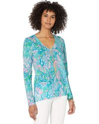 Lilly Pulitzer Etta Long Sleeve Top - Blue