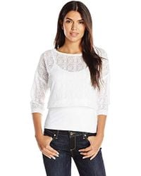 Only Hearts Blanca Cropped Sweatshirt - White