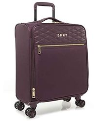 "DKNY 25"" Expandable Softside Spinner Luggage, Burgundy - Purple"