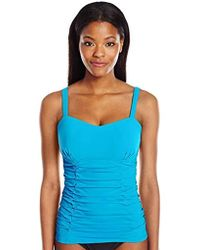 Gottex Sweetheart Cup Sized Tankini Top Swimsuit - Blue
