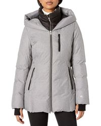 SOIA & KYO Fannia Ladies Hooded Down Coat - Gray