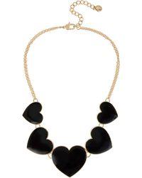 BCBGeneration Bcbg Generation Love Heart Frontal Necklace - Black