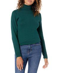 Amazon Essentials Suéter Ligero de Cuello Alto - Verde