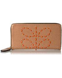 Orla Kiely - Laced Stem Leather Big Zip Wallet Wallet - Lyst
