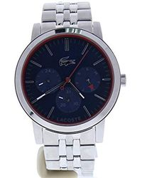 3bf435e03bf Lyst - Lacoste  metro  Quartz Stainless Steel Watch