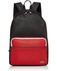 Lacoste Colorblock Croc Taping Backpack - Red