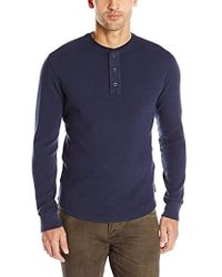 Woolrich First Forks Thermal Henley Shirt - Blue