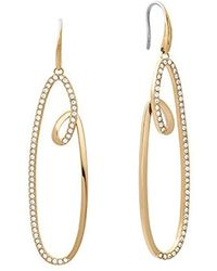 Michael Kors - S Brilliance Gold-tone Earrings, One Size - Lyst