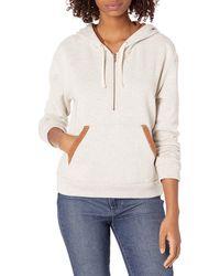 Hurley Two-faced Half Zip Pullover Fleece Sweatshirt - Multicolor