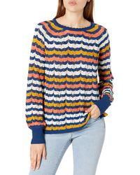 Ella Moss Haiden High Low Light Weight Sweater - Blue