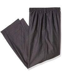 Jockey Yarn Dye Woven Pajama Pant - Black