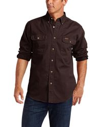 Carhartt Big & Tall Oakman Work Shirt,dark Brown,xxx-large Tall