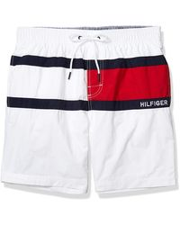 "Tommy Hilfiger 7"" Swim Trunks - White"