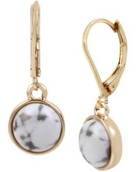 Kenneth Cole - Small Cabochon Drop Earrings - Lyst