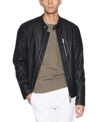 armani exchange leather jacket men