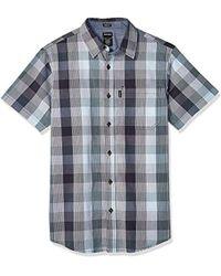 Dickies Mens Flex Modern Fit Short Sleeve Yarn Dyed Plaid Shirt